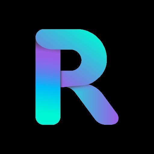 Logo Repurpost with fluid gradient